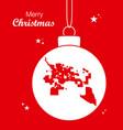 merry christmas theme with map of tucson arizona vector image vector image