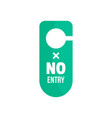 no entry hanger tag icon flat style vector image
