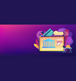 open banking platform concept banner header vector image