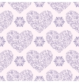 pattern with abstract hearts vector image vector image
