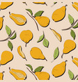 pear organic background image fresh fruit vector image