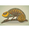 picture colorful chameleon lizard in graphic vector image