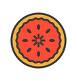 pie christmas related style design icon editable vector image vector image