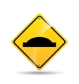 road sign uneven icon design vector image vector image