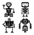 Robot icons set Artificial intelligence vector image vector image