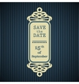 Save the date frame vector image vector image
