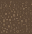 seamless easter pattern with chocolate background vector image vector image