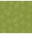 Seamless green pattern with leaves vector image vector image