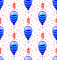 Seamless pattern with cute cartoon balloons 3 vector image vector image