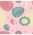 Seamless pattern with easter egg vector image