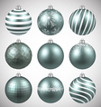 Set of realistic dim christmas balls vector image vector image
