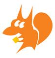 sly redhead squirrel vector image