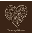 stylish valentines day card vector image vector image