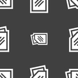 Text file icon sign Seamless pattern on a gray vector image vector image