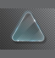 triangle glass plate isolated on transparent vector image vector image