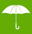 umbrella icon green vector image vector image
