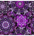Violet seamless pattern with eastern mandalas vector image vector image