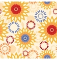 Warm vibrant floral abstract seamless pattern vector image vector image