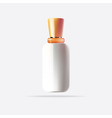 White Cosmetic Container with Orange Cap vector image vector image
