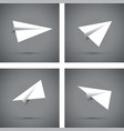 white paper airplanes vector image vector image