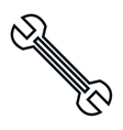 wrench tool isolated icon vector image vector image