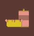 pixel icon in flat style soda and hot dog vector image