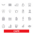 cafe coffee shop street restaurant cafeteria vector image