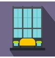 Shopping center store building icon flat style vector image