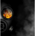 The fire vector image