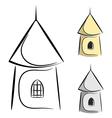 0Cartoon castle tower eps10 vector image vector image