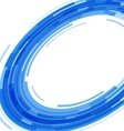 Abstract blue technology circles distorted vector image