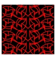 Abstract red line geometrical seamless pattern vector image vector image