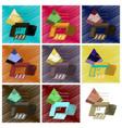 assembly flat shading style icon economic pyramid vector image vector image
