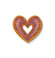 baking heart for valentines day vector image
