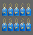Bargain price tags vector image