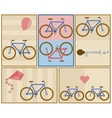 bicycle postcard set vector image vector image