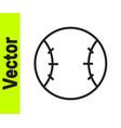 black line baseball ball icon isolated on white vector image vector image