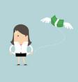 businesswoman has no money vector image vector image