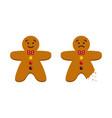 cartoon gingerbread men christmas cookies vector image vector image