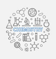 chemistry round concept science line vector image vector image