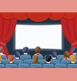 cinema watch movie theater empty screen template vector image