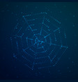 cobweb glows against the sky vector image vector image