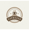 Coffee Shop Logo Design Element vector image