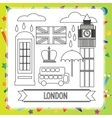 Coloring book - London vector image