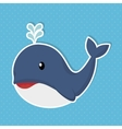 cute whale baby icon vector image