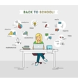 E-learning and back to school of vector image vector image