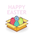 Easter eggs in box vector image
