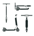 electric kick scooter sides vector image
