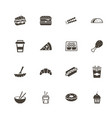 fast food - flat icons vector image vector image