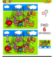 finding differences game with insects vector image vector image